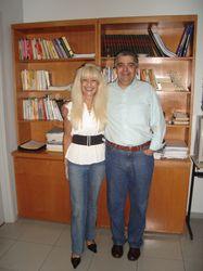 Amigos e parceiros Prof. Valdemar Augusto Angerami - Camon e profa. Karla Cristina Gaspar - CEPPS/2008
