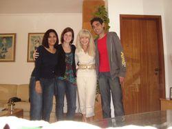 Alunos da Unib - Cristina, Gabriella, Wagner - 11/11/08