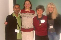 Amigos e parceiros Prof. André Travea, Profa. Elaine Lange e Profa. Clara Nakagawa - Congresso Brasileiro de Psicologia Hospitalar - Out/08