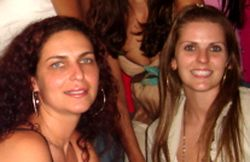 Formandas da Pós-Graduação em Psicossomática na Área Hospitalar e da Saúde: Patrícia Valério Sakall e Marjane Librelotto - 17/01/10