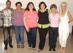 Professores do CEPPS: prof. André Traves, Ms. Heloísa Campos, Ms. Shirlei Zolfan, Dra. Glória Perez, Ms. Clara Nakagawa - 17/01/10