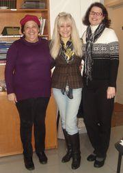 Amigas e parceiras profas. Ms. Heloísa Campos e Dra. Elaine Lange - 13/06/10