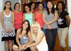Alunas do Curso de Psicopatologia com a Profa. Ms. Heloísa Campos | Fev/2011